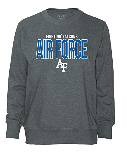 - NCAA Air Force Falcons Women's Long Sleeve French Terry Polo Shirt, Dark Heather, Large