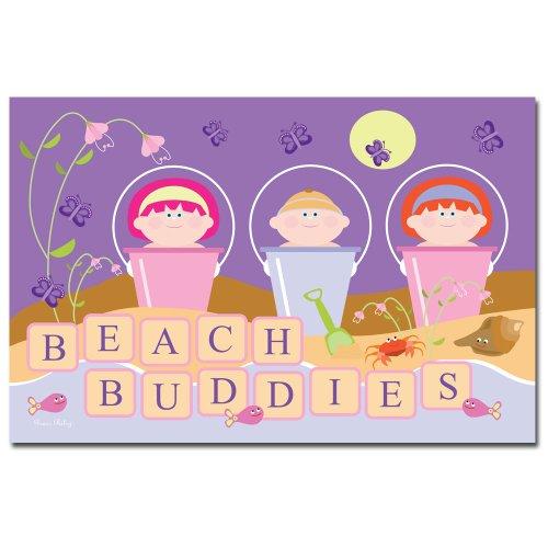 Trademark Fine Art Beach Buddie Grace Riley Canvas Wall Art, 14x19-Inch