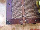 Boston Wood Chest Wooden Steamer Trunk - Medium