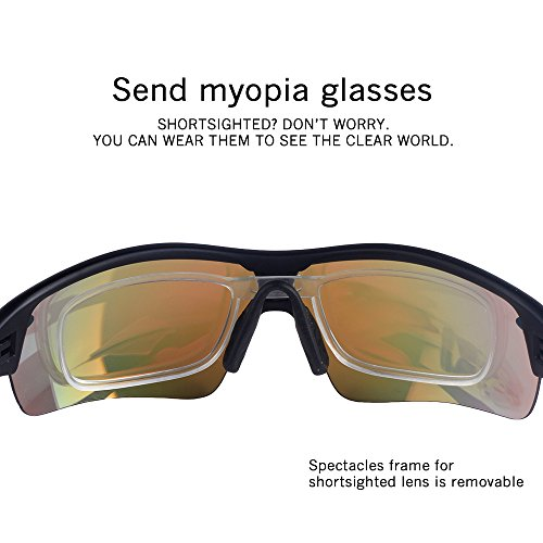 525079fd9eb9 POSHEI P03 Polarized UV Protection Sports Glasses for Men or Women