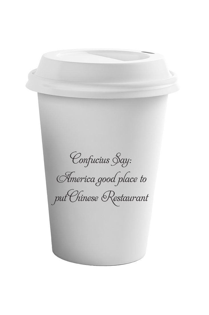 Style In Print America Is Place For Chines Restaurants Coffee Ceramic Travel Tumbler Mug 11oz