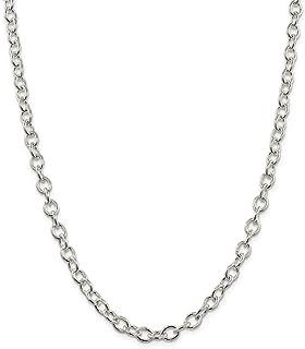 Diamond2deal Argent Sterling 9256,8mm Ovale câble Chaîne 50,8cm