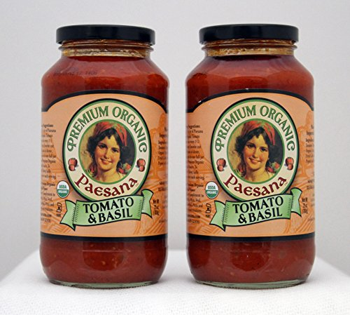 Paesana Sauce Organic Tomato Basil 2 Pack (2 -25 oz containers)