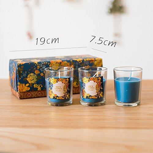 Amber 3 JJALZ Aromatherapy Candle Gift Set Natural Essential Oil SmokeFree Theme Gift,White Sandalwood Single