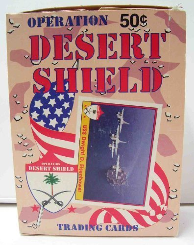 Operation Desert Shield Trading Cards Wax box - 36 count