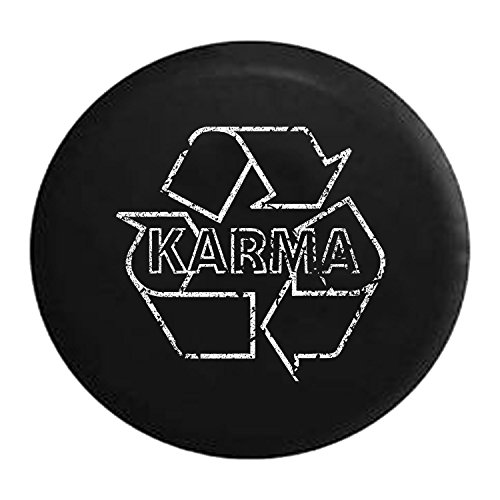 American Unlimited Spare Tire Cover Distressed - Karma Recycling Full Circle Go Green Environmental fits Jeep Rubicon JK or Camper RV Accessories 33 Inch