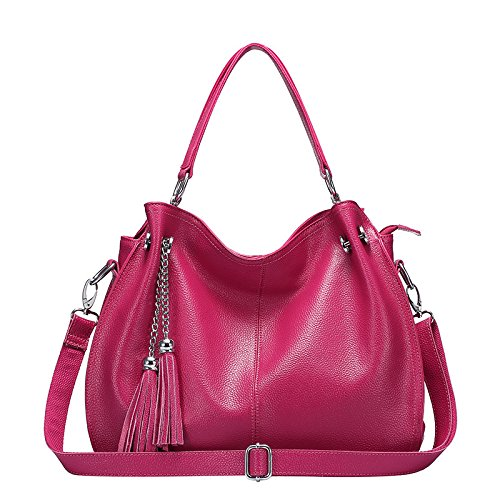Fashion Large Bag Shoulder Capacity Bag Laptop Rosered Shoulder Lady Casual ZAUqw67xg