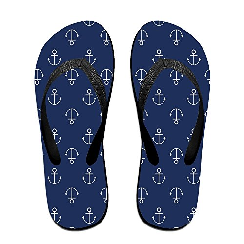 Sandalo Da Donna Unisex Ancora Estivo Con Cinturini Infradito Sandali Da Spiaggia Per Uomo Donna Nero