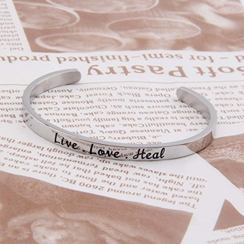 Ensianth Nurse Gift Live Love Heal Bracelet Cuff Bracelet RN Jewelry Gift for Nursing Graduation student