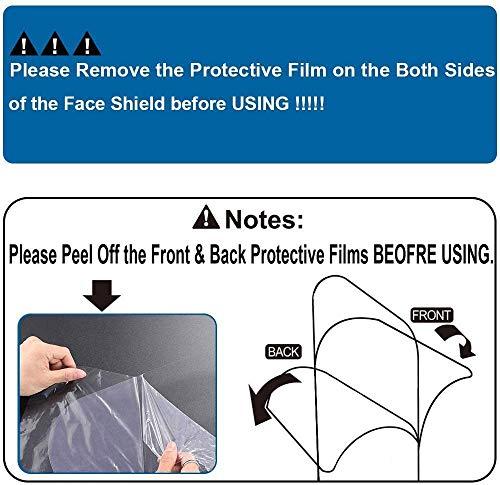 Protector facial de seguridad, paquete de 5 gafas reutilizables, visera transparente antivaho para proteger los ojos de las salpicaduras 8
