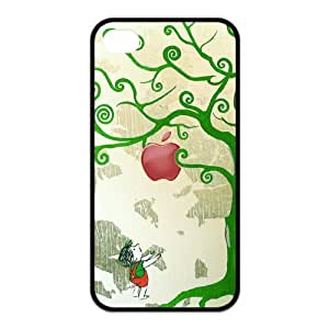 Giving Tree Pattern Design Solid Rubber Customized Cover Case for iPhone 4 4s 4s-linda124
