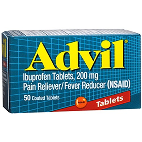 Advil Pain Reliever Fever Reducer 200 Mg 50 Coated