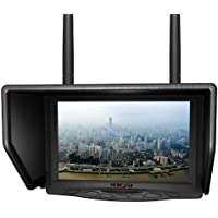 LILLIPUT 7 329DW Dual receiver 5.8Ghz 4 Bands 32Channels FPV Monitor for Fly Wireless Camera and For Big Helicopter with LP-E6 battery and charger works with FAT SHARK,DJI AND BOSCAM transmitter by LILLIPUT OFFICIAL SELLER :VIVITEQ
