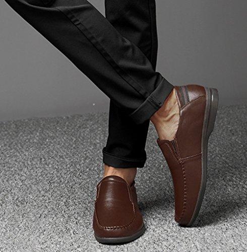 Uomo Casual Morbide Pisello Mocassini Business Scarpe MYXUA Brown Fashion Scarpe Da w5qtx6