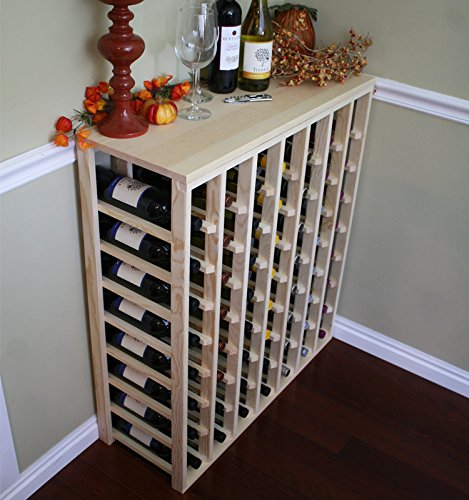 Creekside 56 Bottle Table Wine Rack (Pine) by Creekside - Exclusive 12 inch deep design conceals entire wine bottles. Hand-sanded to perfection!, Pine by Creekside Manufacturing