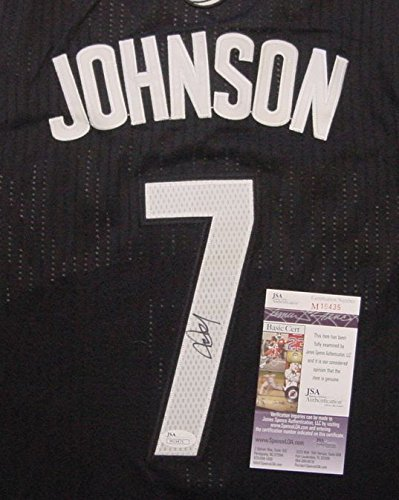 Joe Johnson Brooklyn Nets Autographed Black #7 Jersey Size 48 JSA COA