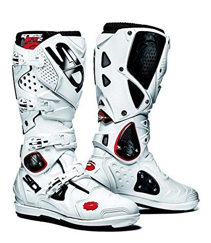 - Sidi Boots Crossfire 2 SRS White Size EUR 43 USA 9.5