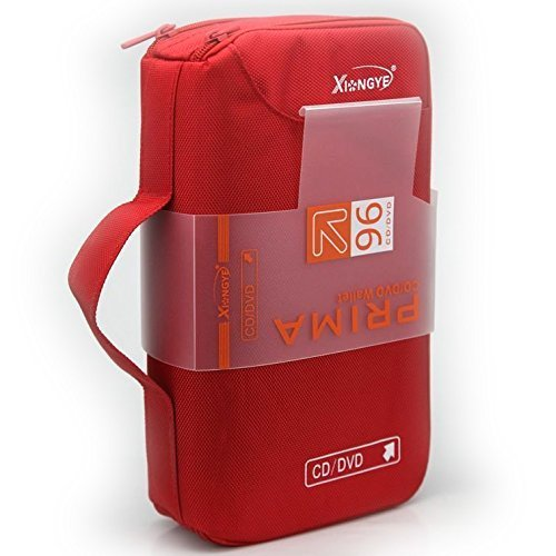 VD Blu-Ray Storage Bag Wallet Holder Case Box - Red ()