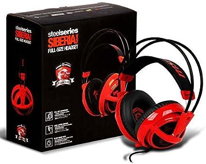 Amazon.com: Steelseries Siberia v2 de tamaño completo Rojo ...