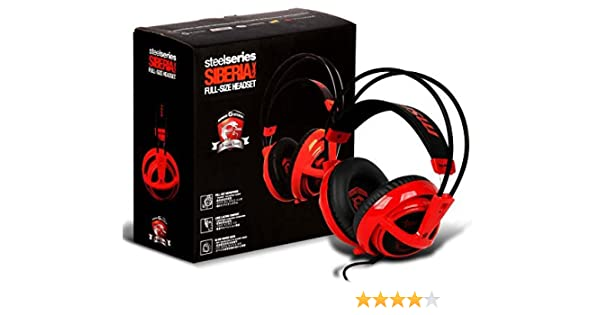 MSI SteelSeries Siberia V2 Full-Size RED Dragon Edition Headband Headset NEW