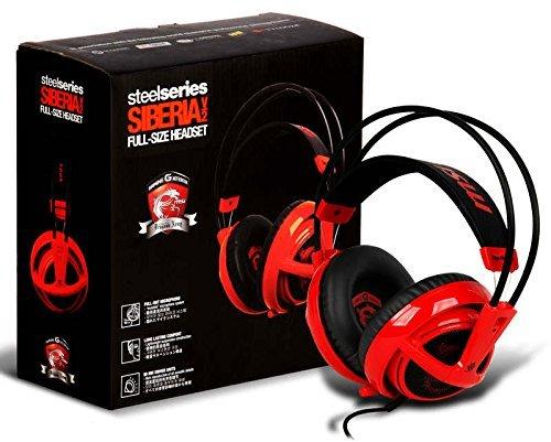 SteelSeries Siberia v2フルサイズレッドMSI Dragon Editionヘッドバンドヘッドセット   B00PWST9XE