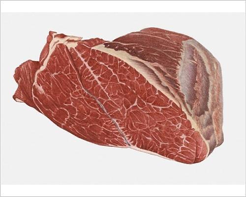 10x8 Print of Illustration of rib eye beef (13541679)