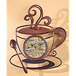 Decorative Metal Coffee Cup Clock by LTD Commodities