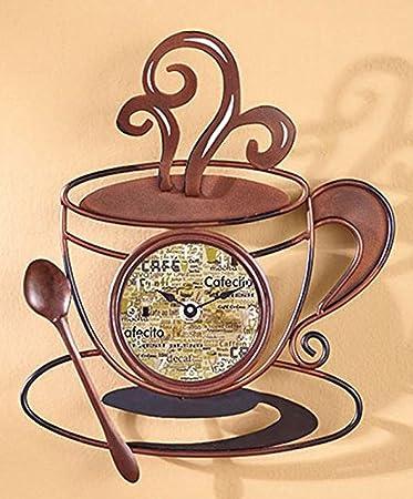Decorative Metal Coffee Cup Clock