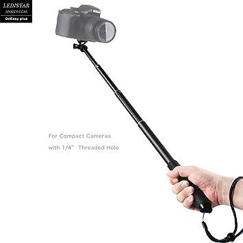 GoPro selfie stick, y & M (TM) GoPro profesional selfie stick con Bluetooth remoto para Apple, Android, GoPro y cámaras digitales (negro), Verde: Amazon.es: ...