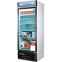 TGM22RV 22 cu. ft. Glass Door Merchandiser Refrigerator with Energy Conserving Fan Control Double Pane Glass Doors High Density PU Insulation and Adjustable Shelves: White