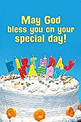 Happy Birthday Cake with Candles Postcard (Package of 25)
