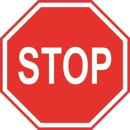 U24 Aufkleber Stop Stopschild Autoaufkleber Sticker 20 X 20 Cm Konturschnitt Auto