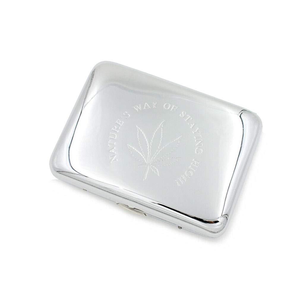 ZHONGYUE Cigarette Case, Metal Cigarette Case, Copper 16-Pack Cigarette Case, Moisture-Proof and Anti-Pressure Cigarette Case, Gold/Silver, Unique Design, Sturdy and Lightweight.