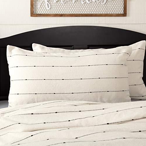 Cream Sham - Piper Classics Farmcloth Stripe King Pillow Sham, 21