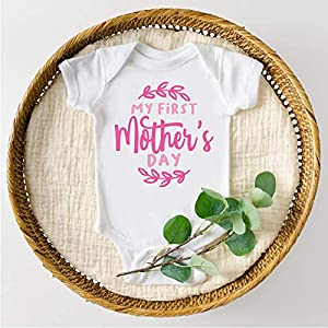 Bump and Beyond Designs Infant and Baby Girl My First Mother's Day Bodysuit