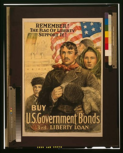 Photo: World War I,WWI,Immigrants,The Flag of Liberty,3rd Liberty Loan,Government Bonds