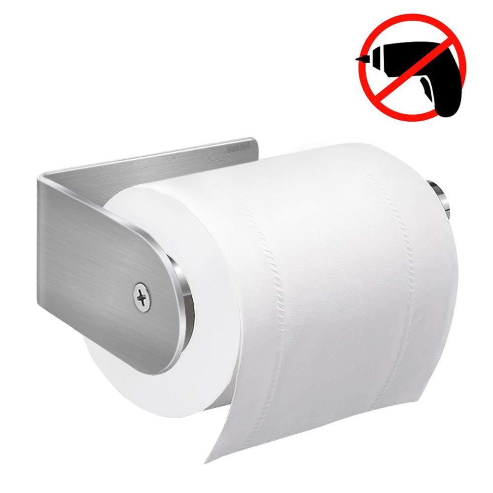 Portarrollos para Papel Higiénico , synmixx Porta Papel Higiénico Autoadhesivo Acero Inoxidable USU304, Sin Taladro