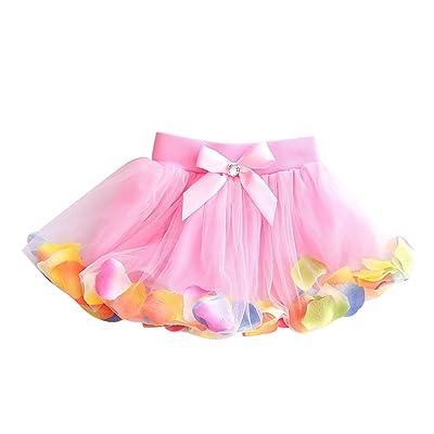 AMUR LEOPARD Baby Girl Skirt Flower Wedding Bridesmaid Party Dress Princess Suit Party Dance Tutu Skirt 3-6 Years
