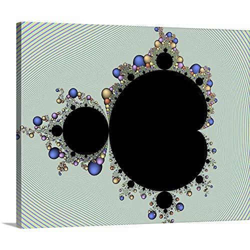 Mandelbrot Fractal Canvas Wall Art Print, 20