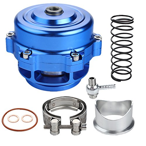Dewhel Universal 50mm BOV V-Band Blow Off Valve Dump Valve BOV with Aluminum Flange (Blue)