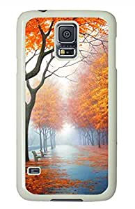 Beautiful Autumn White Hard Case Cover Skin For Samsung Galaxy S5 I9600 by lolosakes