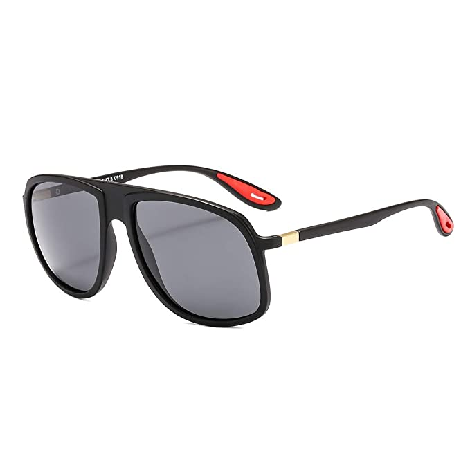 915d45c86b1f Image Unavailable. Image not available for. Color: SUERTREE Fashion Pilot  Polarized Sunglasses Trendy Women Men Plastic Frame Shades Eyewear JH9033