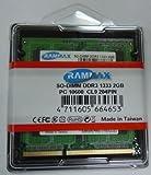 RamMax 2GBメモリ 2枚組 DDR3 1333 2GBX2 RM-SD1333-D4GB DUAL 204pin DDR3-SO-DIMM DIMM ノート パソコン用 増設メモリ 4GB デュアル
