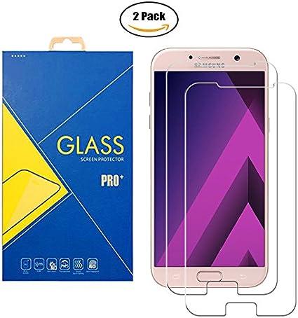 2 Pack] Protector Cristal Vidrio Templado Samsung Galaxy A7 (2017 ...