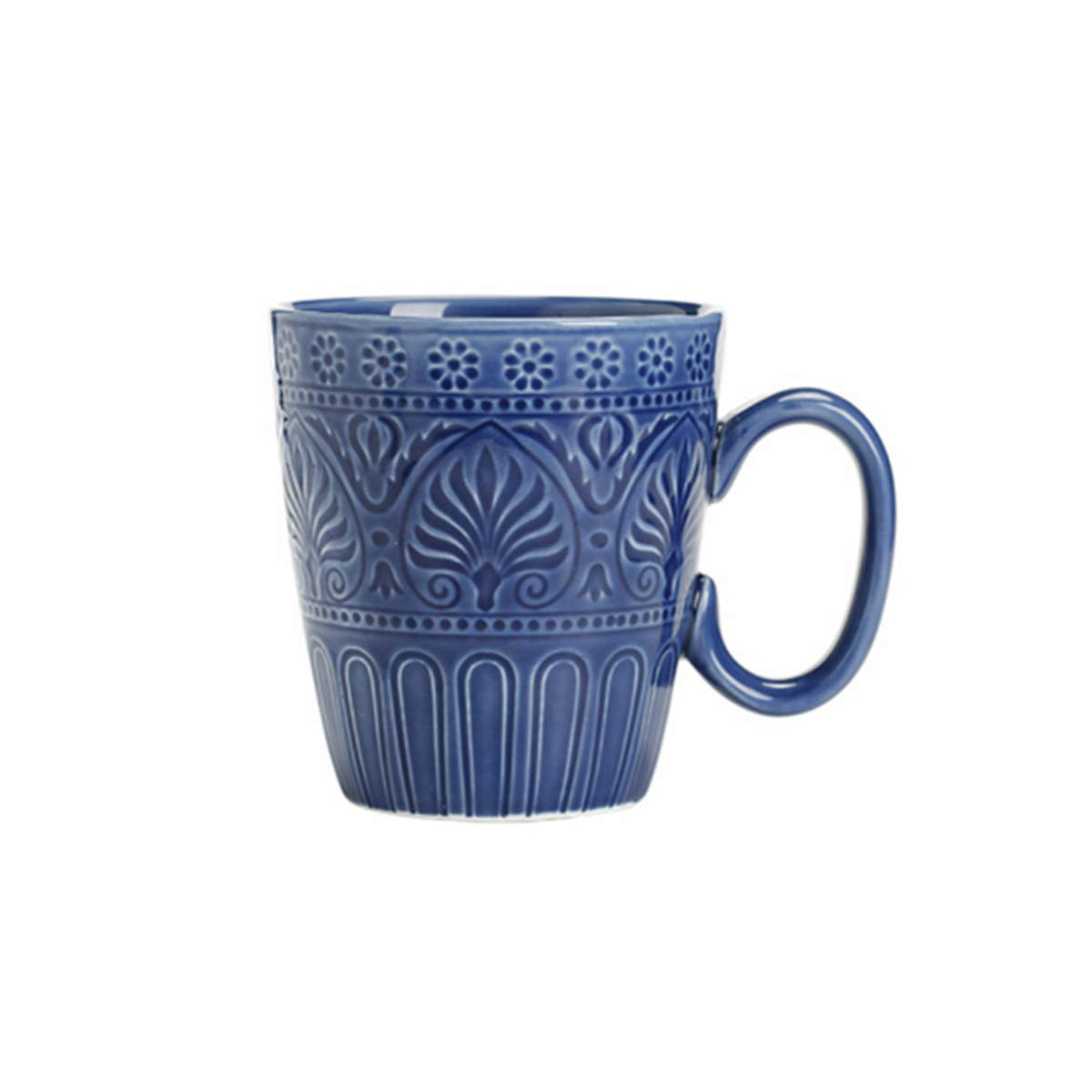 Shengshihuizhong Blue Flame Personality Cup Ceramic Cup Milk Cup Coffee Cup Office Cup (High Temperature Porcelain - Health Glaze) Drinking Cup