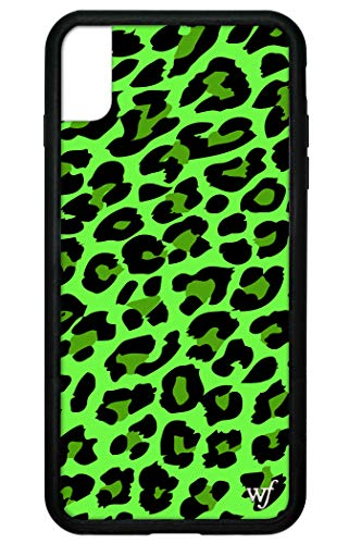 Wildflower Limited Edition iPhone Case for iPhone Xs Max (Neon Green Leopard)