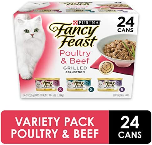 Purina Fancy Feast Grilled Poultry & Beef Collection Wet Cat Food Variety Pack - (24) 3 oz. Cans 2