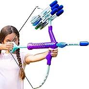 Marky Sparky Bow & Arrow - Shoots Over 100 Feet - Foam Bow & Arrow Archery Set - Purple, Turquois