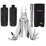 Leatherman Surge Multi-Tool with Nylon Sheath + 42 Piece Bit Kit + Bit Extender
