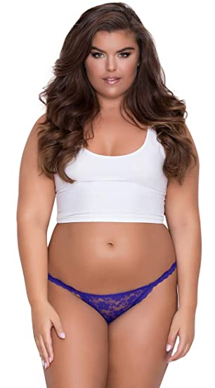0f058e7bb Image Unavailable. Image not available for. Color  Yandy Plus Size Low Rise  Lace Bikini - Purple 1X 2X Queen Size Panty